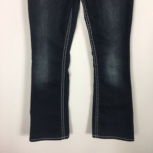 Silver Jeans Jeans - Silver Dark Wash Suki Bootcut Flap Jeans